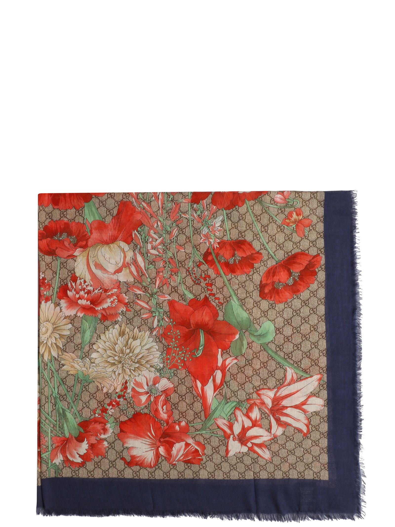 gucci -  Floral Printed Scarf