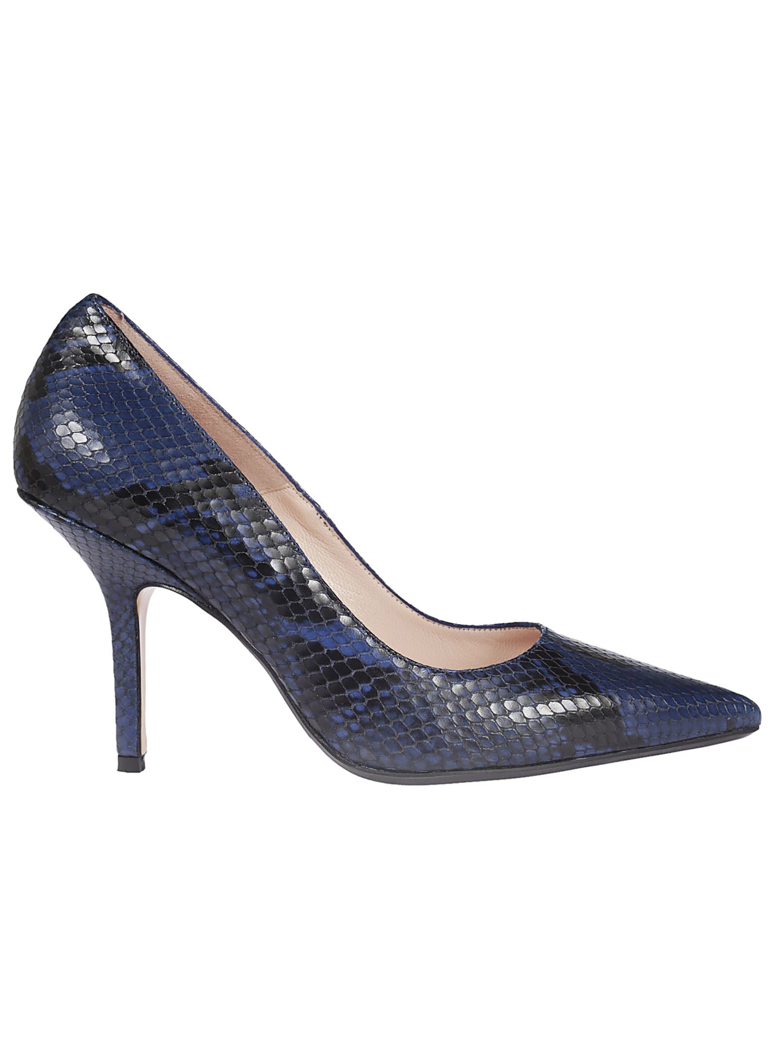 Anna F. SNAKESKINNED PUMPS