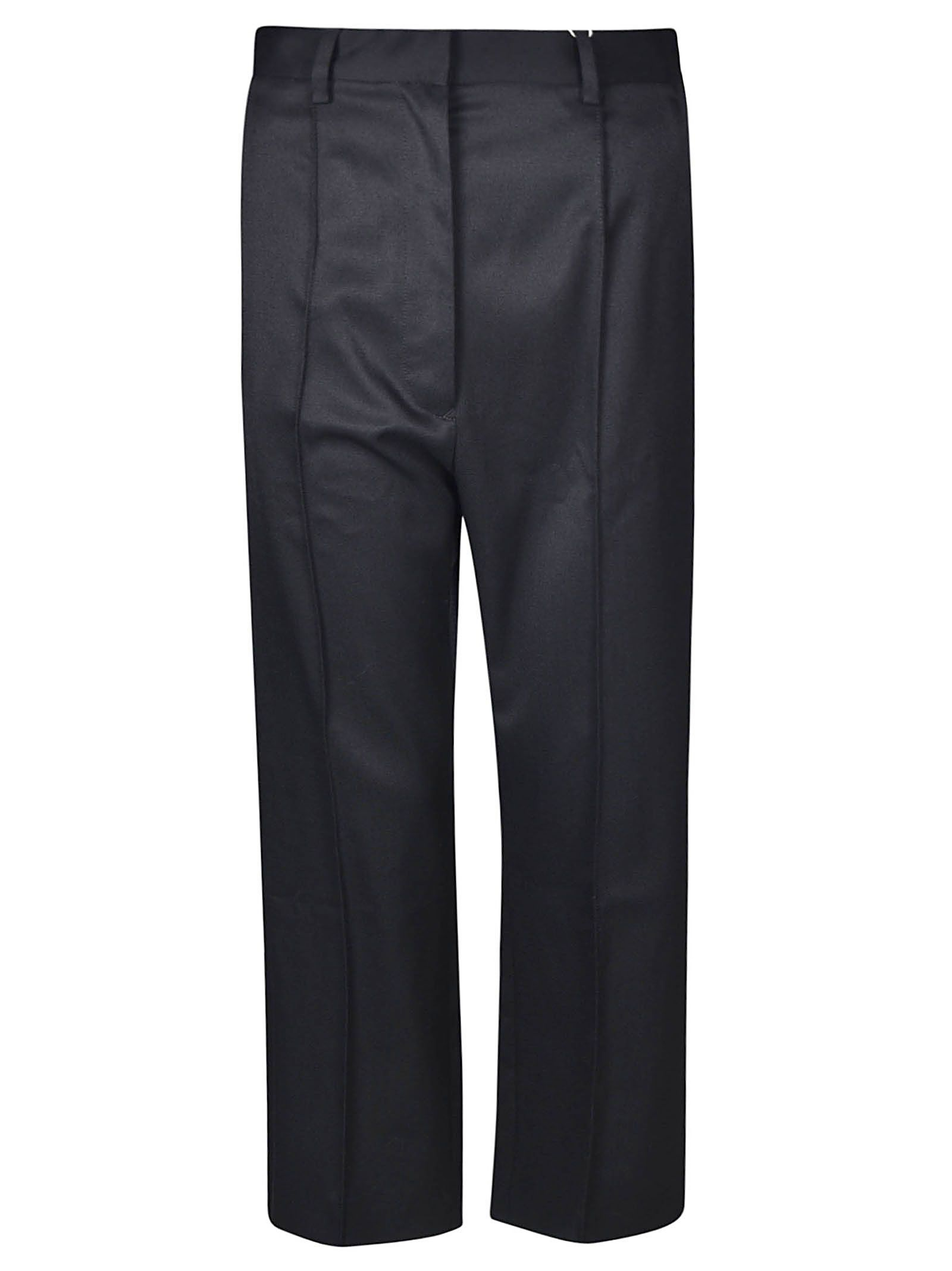 Mm6 Maison Margiela Straight Cropped Crepe Trousers