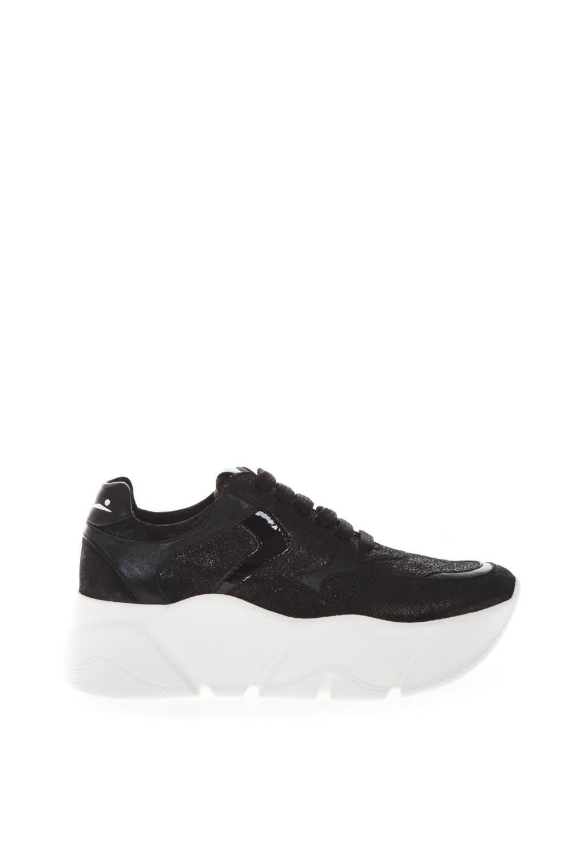 Monster Black Leather Sneaker