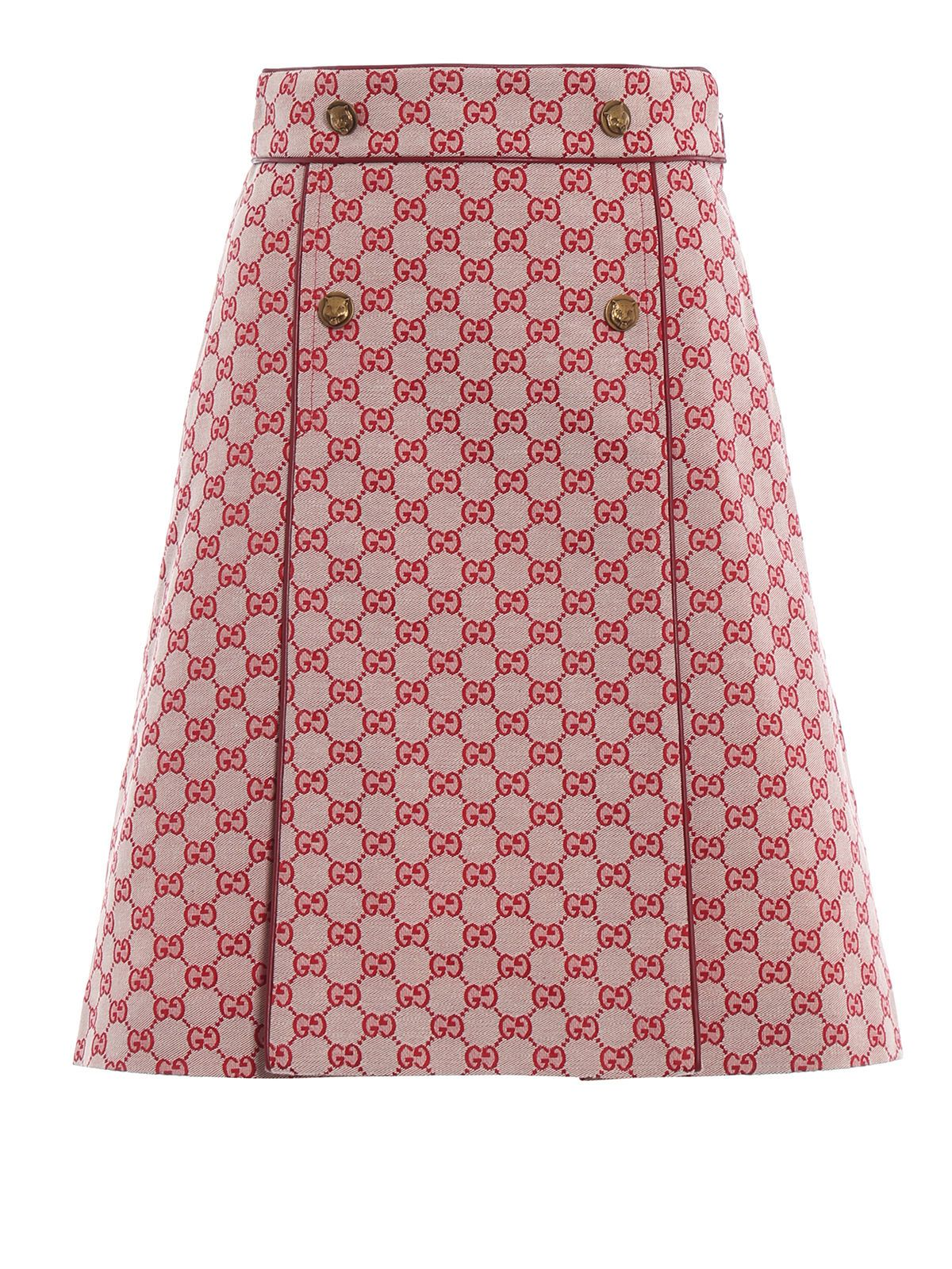 GUCCI GG CANVAS A-LINE SKIRT