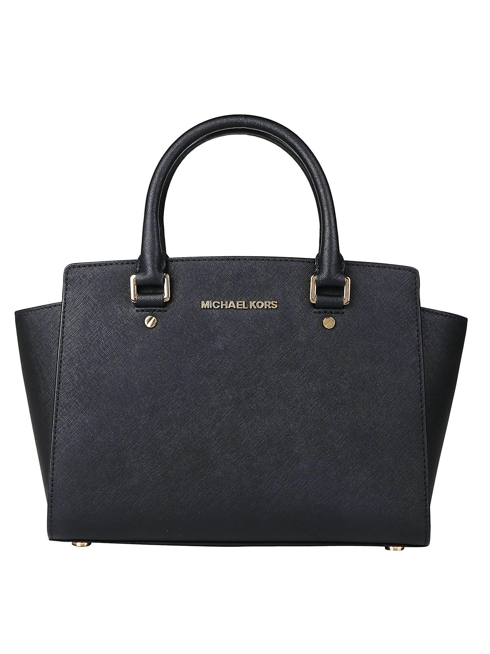 Selma Satchel Shoulder Bag, Black