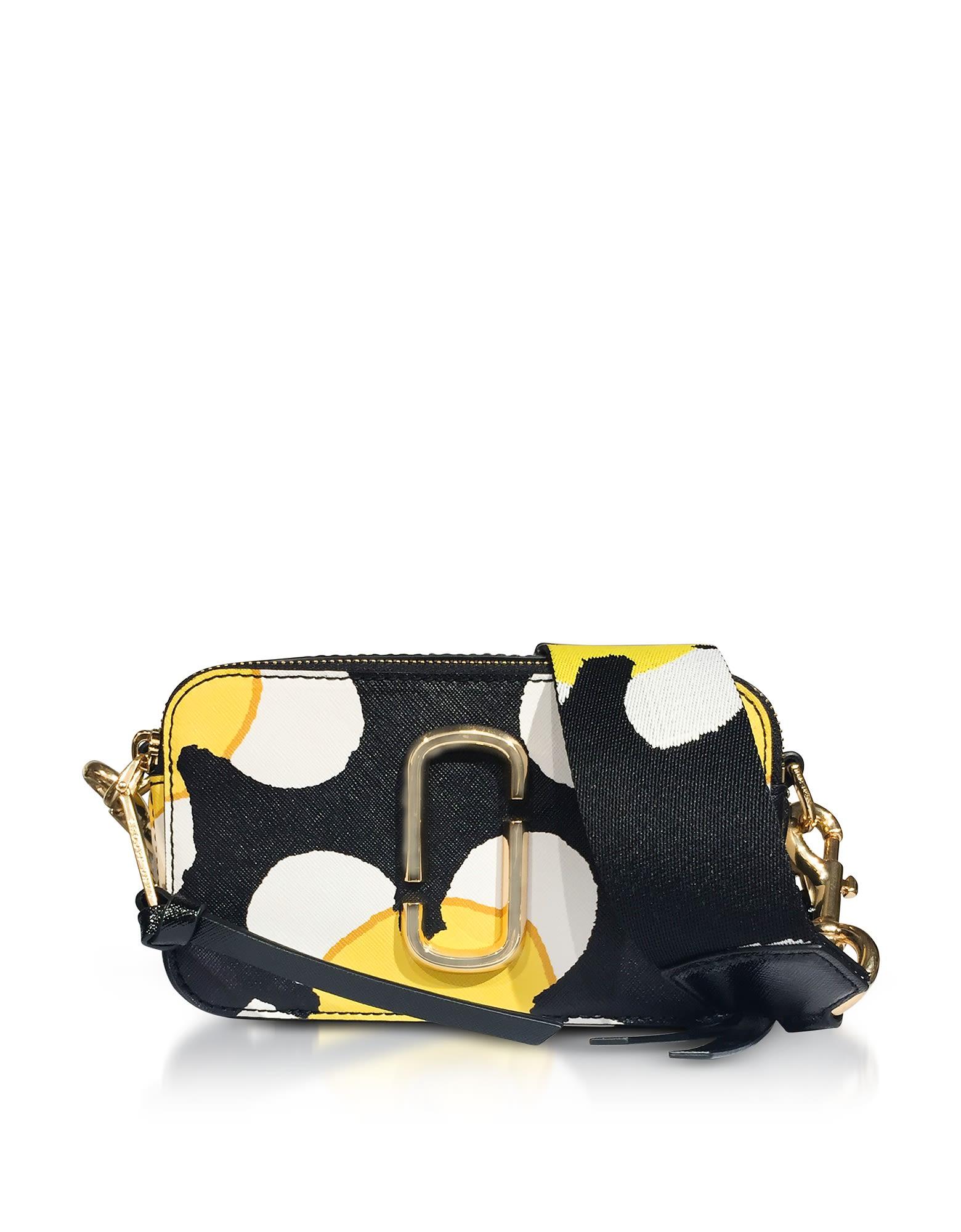 Bolso Block Daisy en negro Multi cámara Yellow Snapshot Jacobs para Marc Color 6w7rR6q