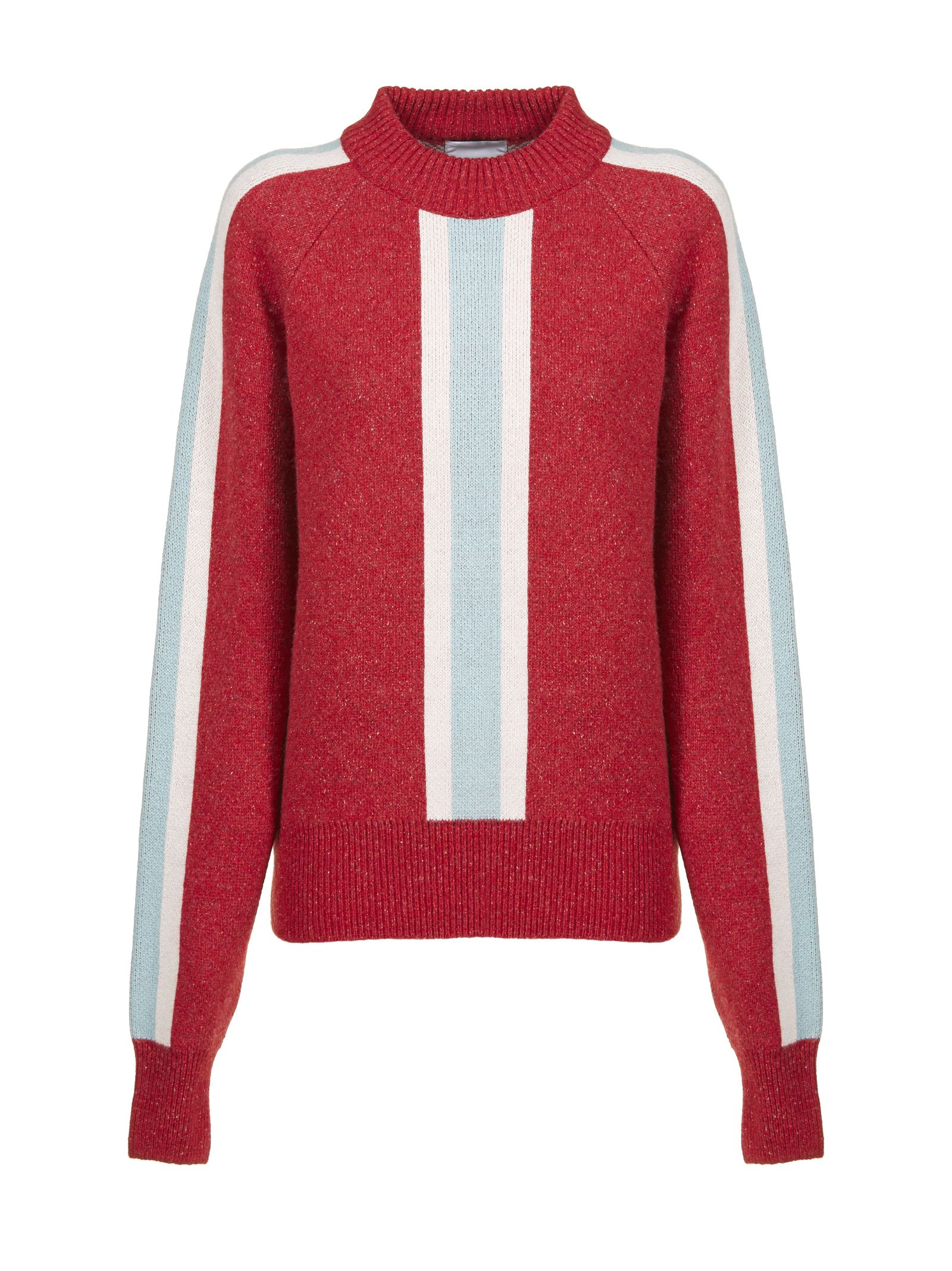 VALENTINE WITMEUR LAB Valentine Witmeur Leaderish Sweater in Rosso Celeste Rosa