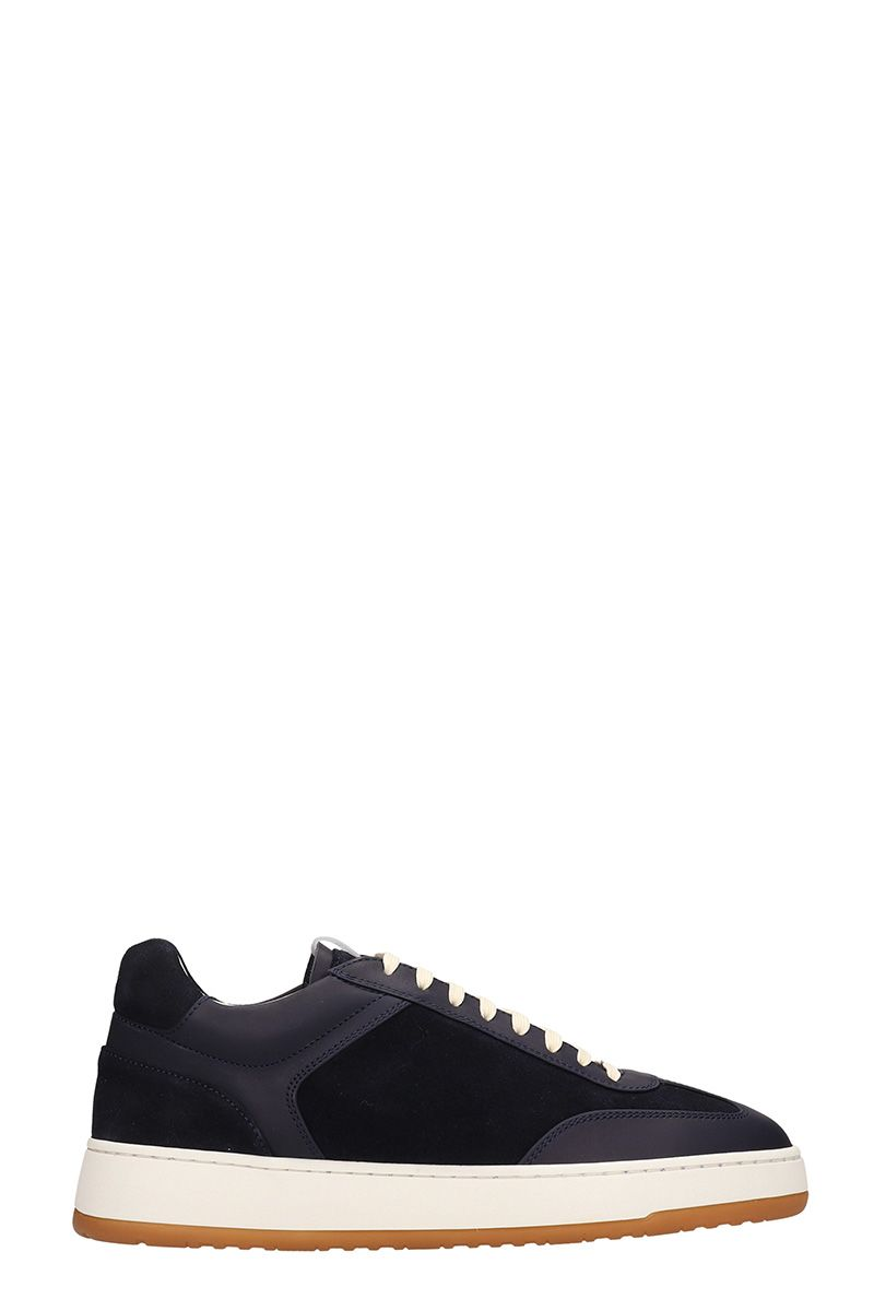 Etq Blue Suede Low 5 Sneakers
