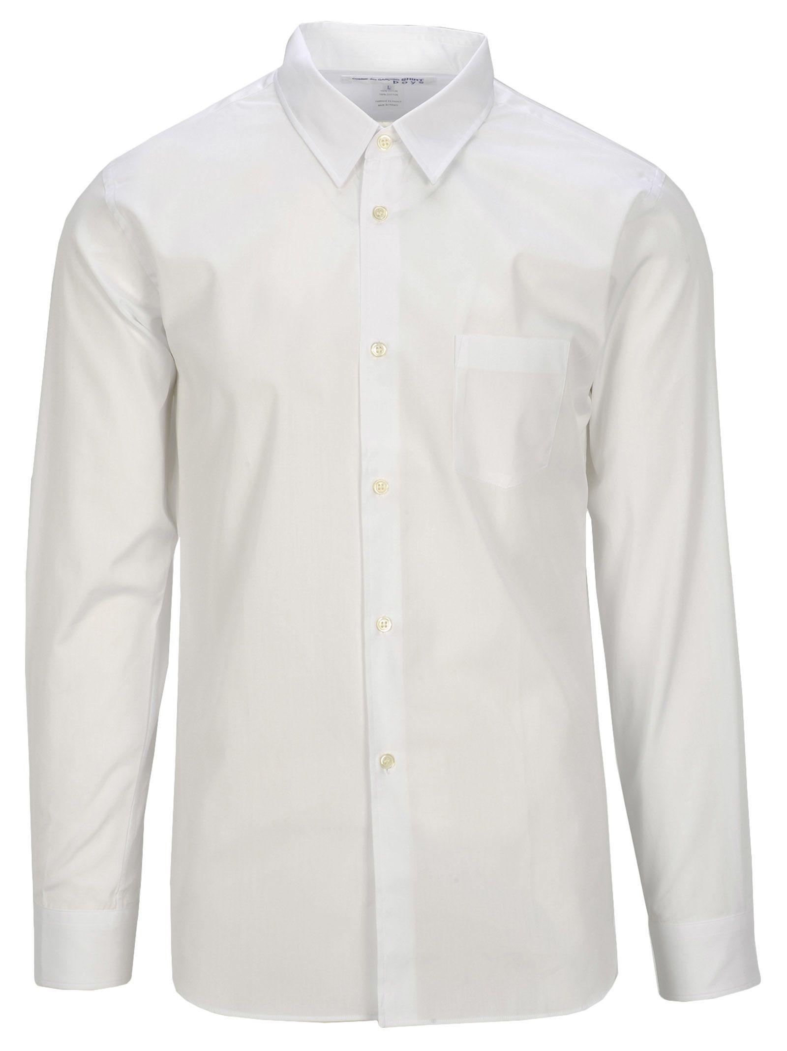 COMME DES GARÇONS BOYS Comme Des Garçons Boy Shirt Logo Back in White