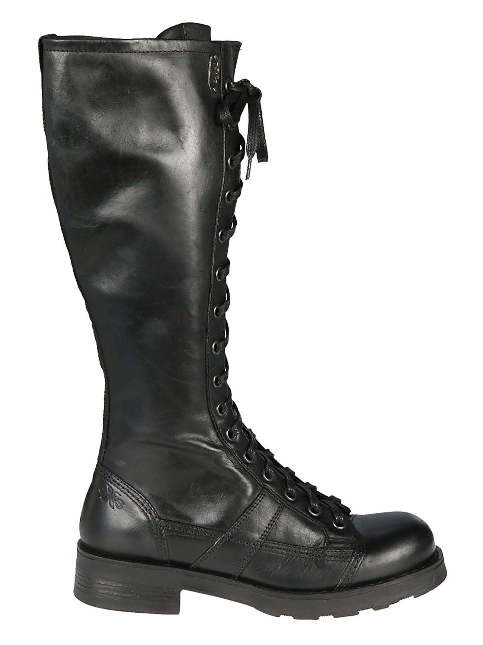 OXS Oxs Charlie Lace-Up Boots in Nero