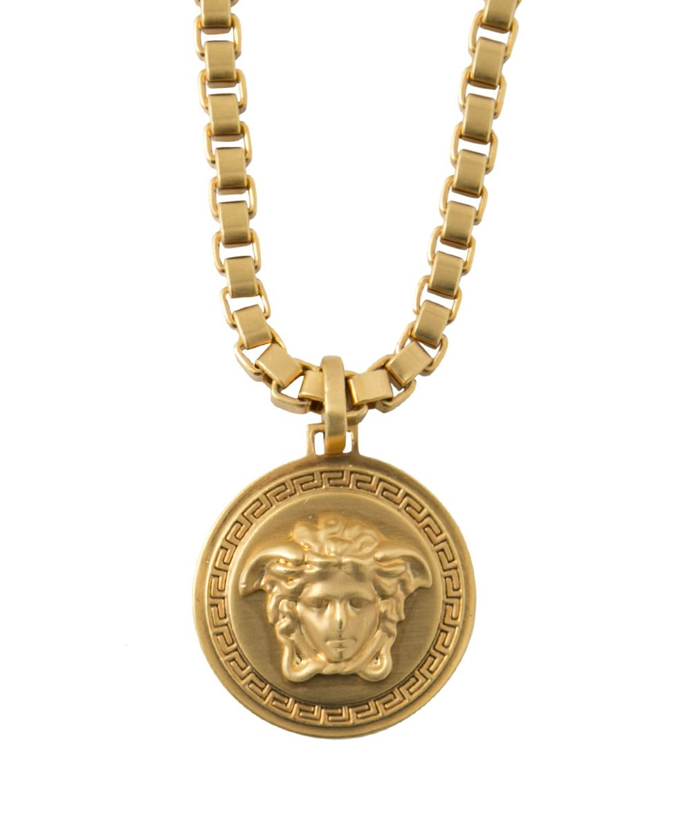 the pendant jewellery versace home jeweller designer medusa img product necklace gold metal yellow vintage