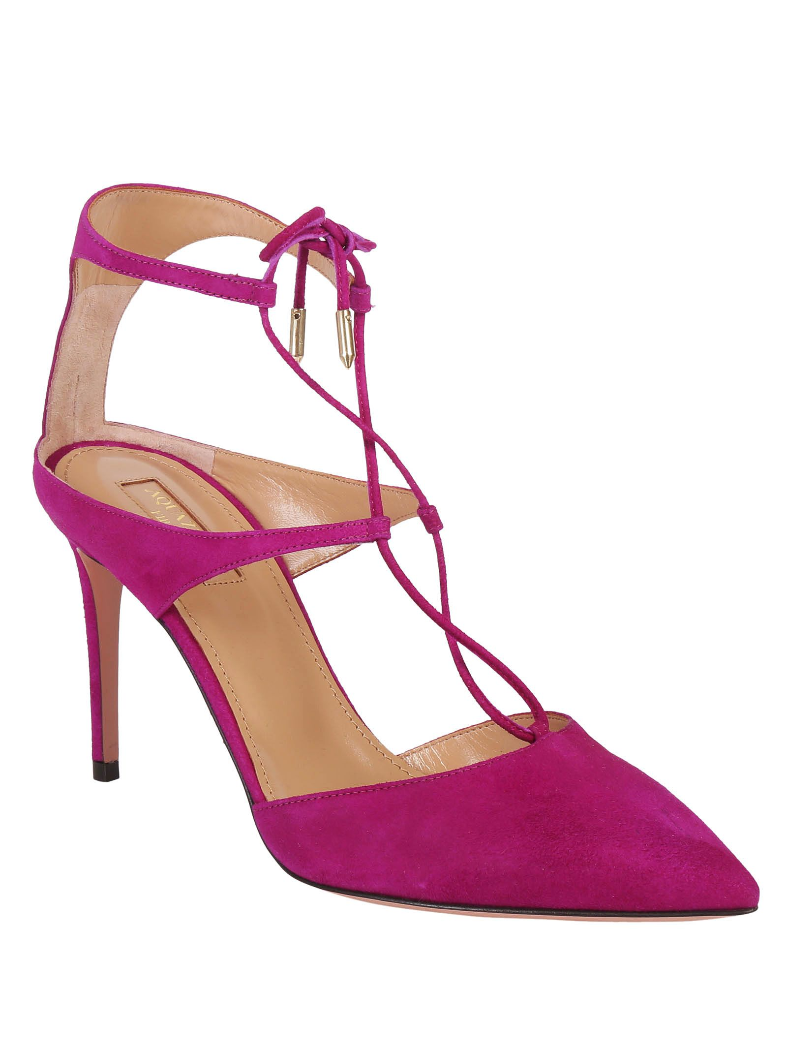 Manhattan 85 pumps - Pink & Purple Aquazzura 7MGQa9ny8b