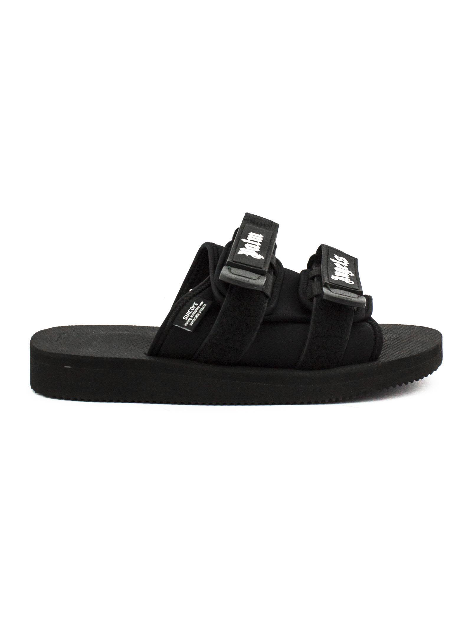 2776845c31dd Palm Angels Black Suicoke Edition Nylon Slides