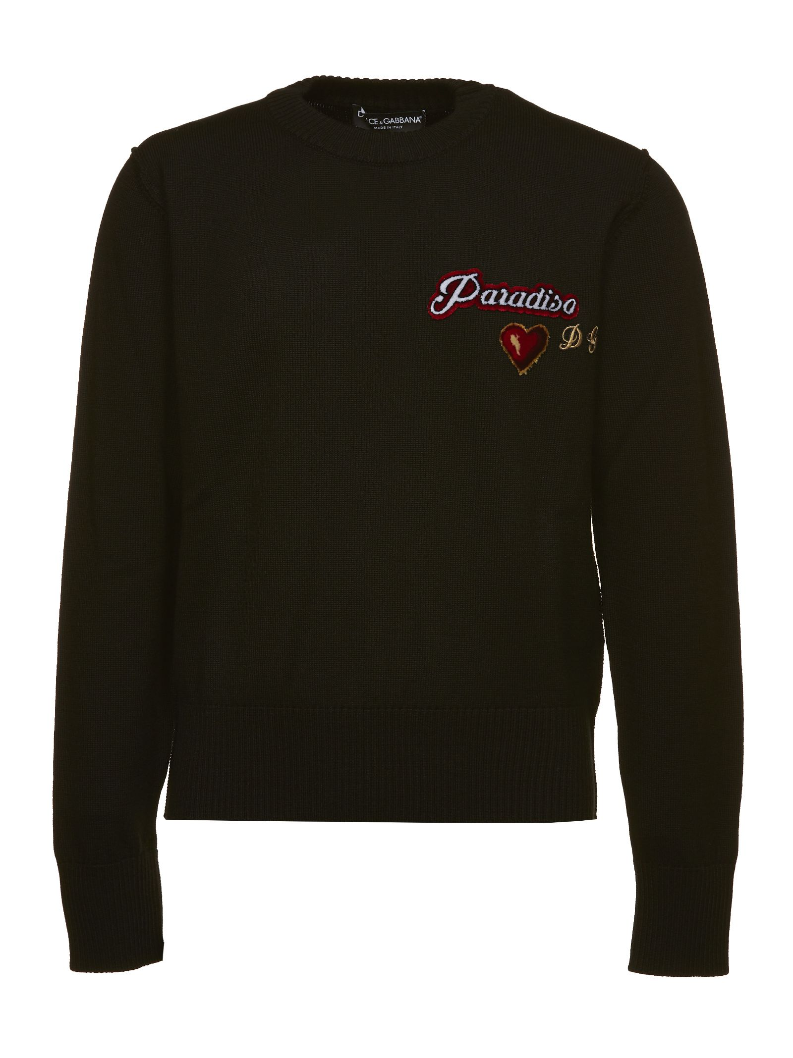 DOLCE & GABBANA EMBROIDERED KNITTED SWEATER
