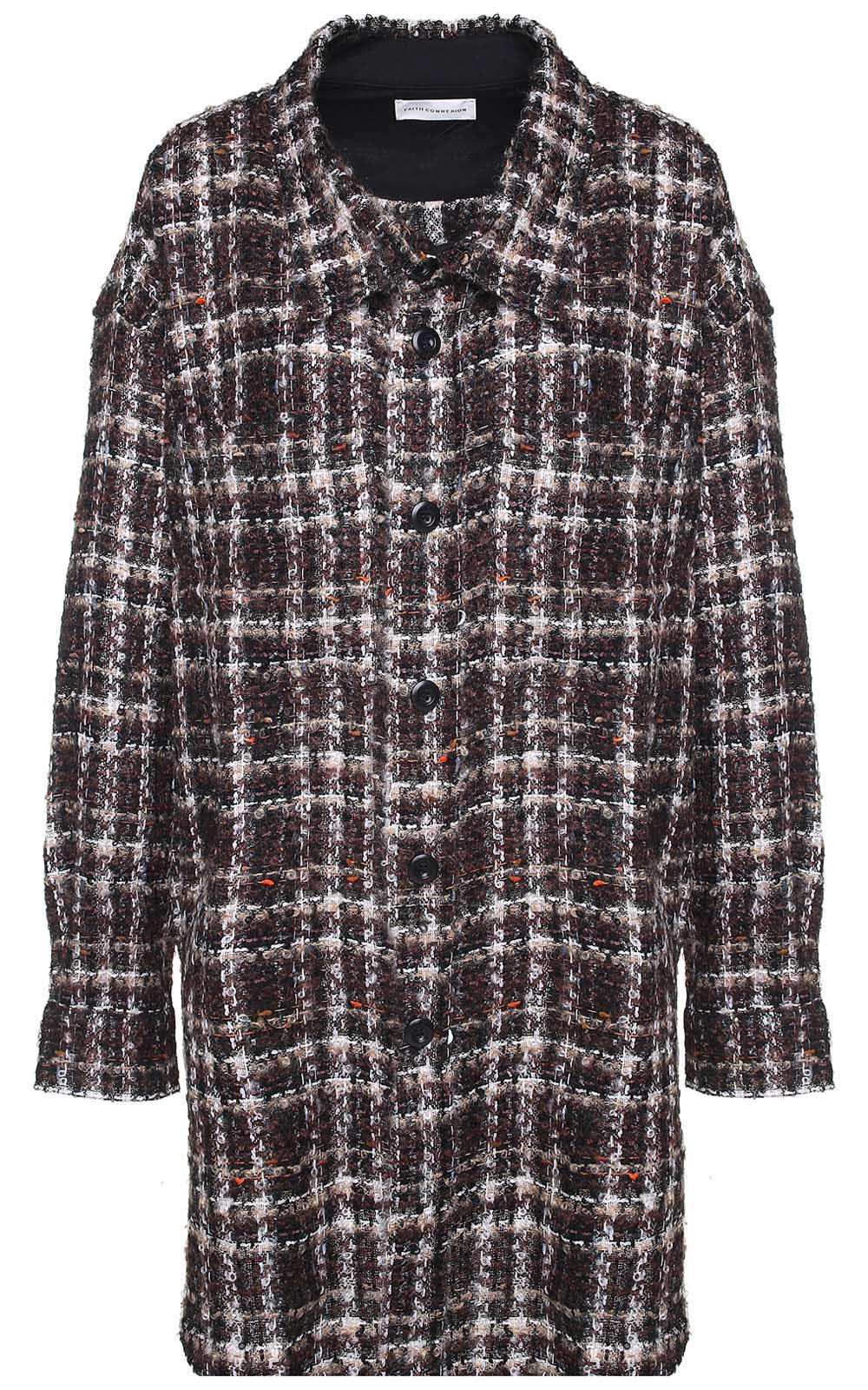 Faith Connexion OVERSIZED TWEED WOOL-BLEND JACKET
