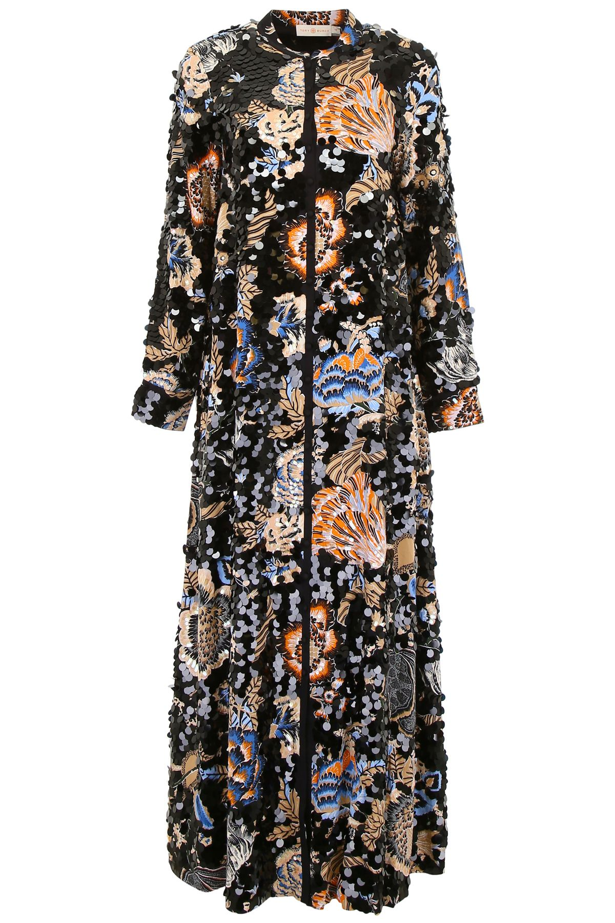 TORY BURCH DRESS WITH LARGE SEQUINS