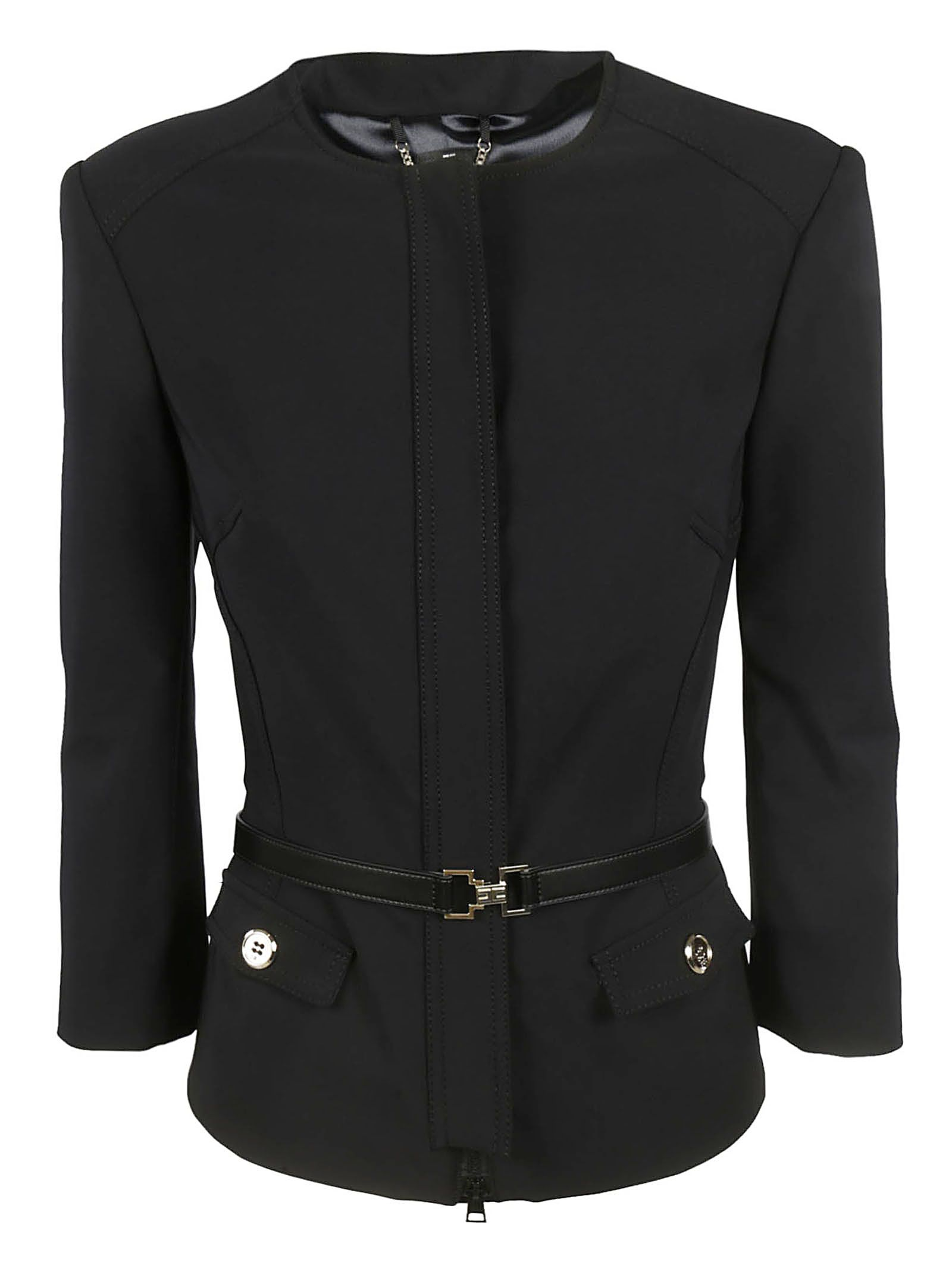 Elisabetta Franchi Celyn B. Fitted Waist Jacket
