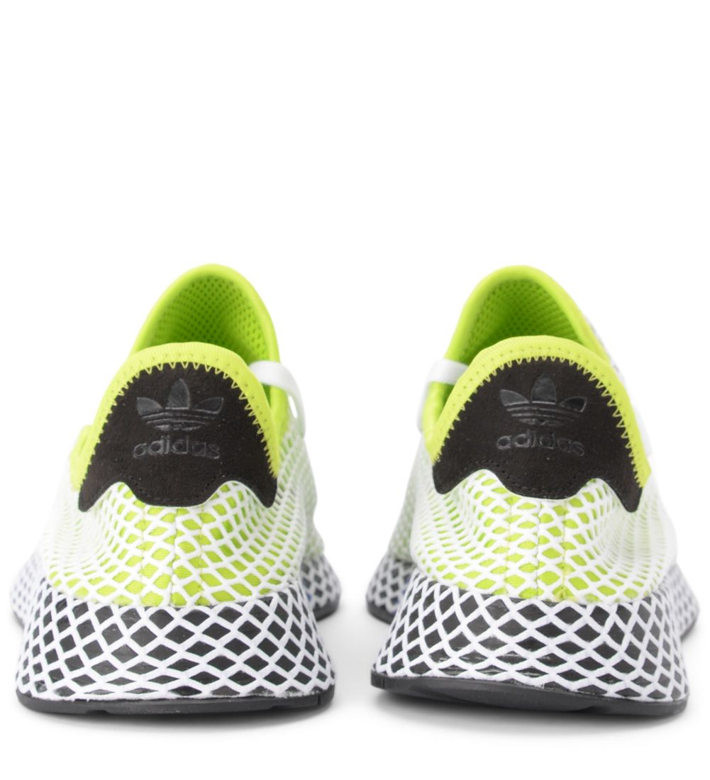 aff99a09e9e2 ... Adidas Originals Deerupt Green And White Mesh Sneaker - VERDE ...