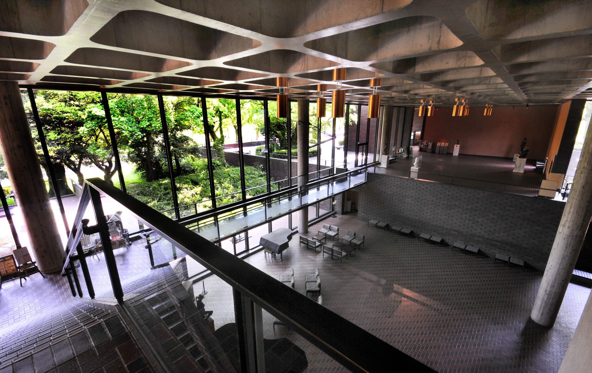 Main building of Kumamoto Kenritsu Bijutsukan Art Museum