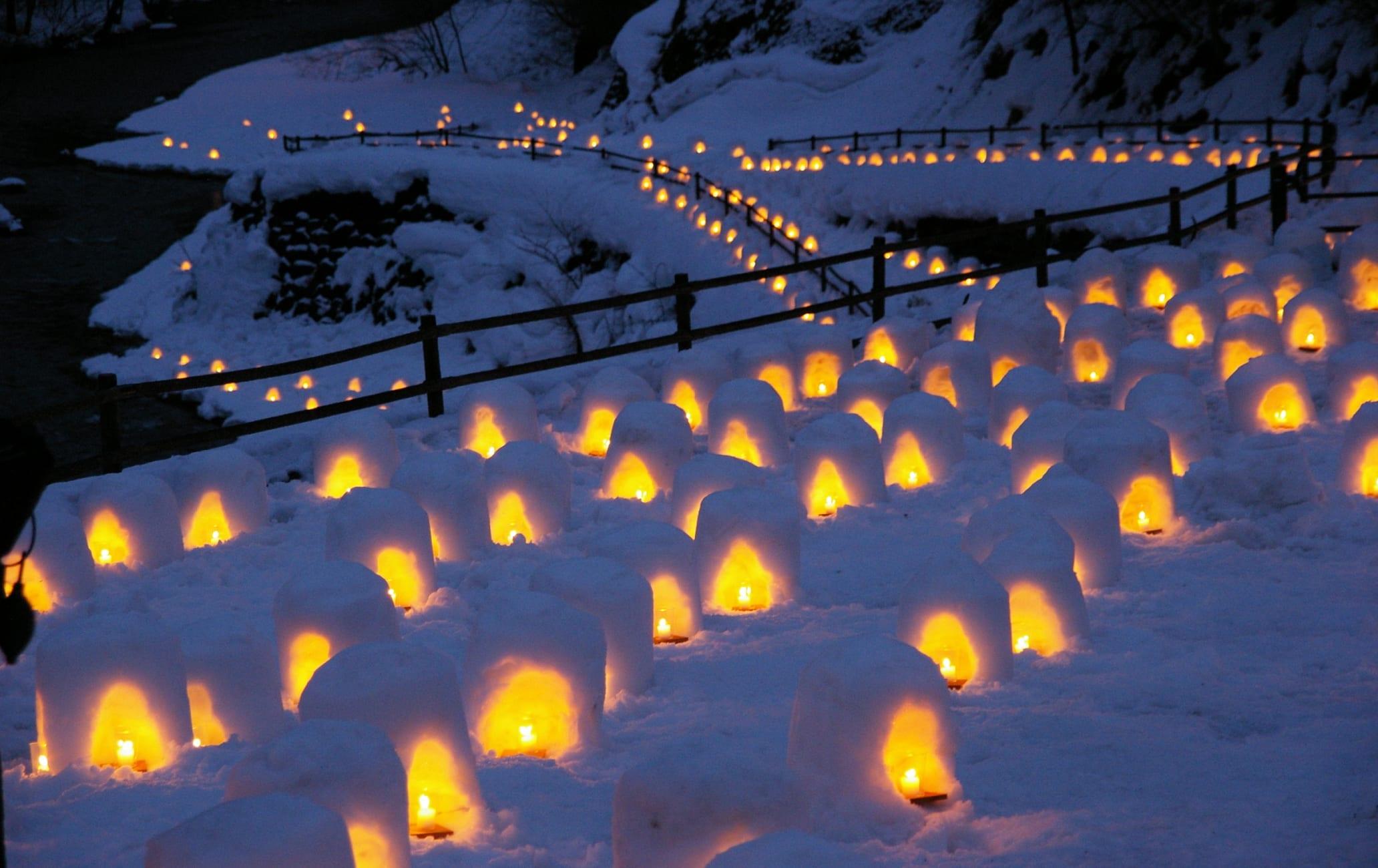 Yunishigawa-onsen KAMAKURA Snow House Festival