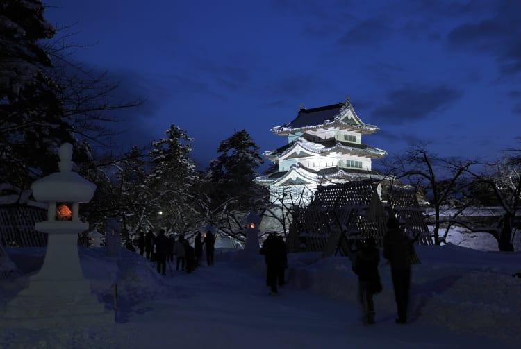 Hirosaki Castle Snow Lantern Festival