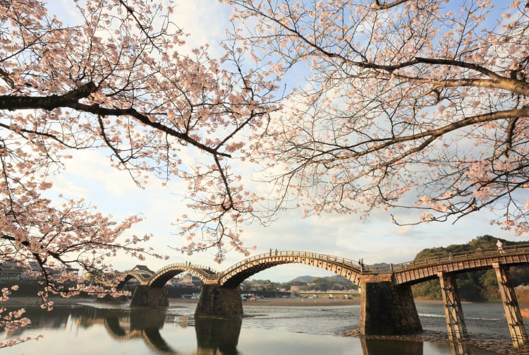 around kintai bridge