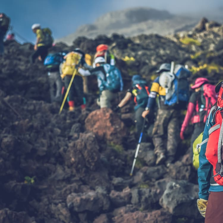 Climbing Mount Fuji