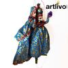 """POPART Light Blue Brocade Kathputli Puppet 20"""" - PU023"""
