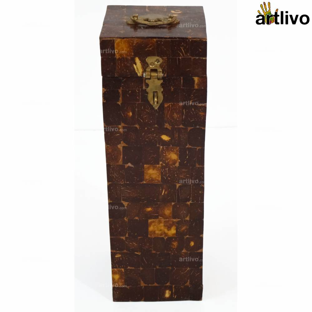 Tribal Coconut Shell Wine Box