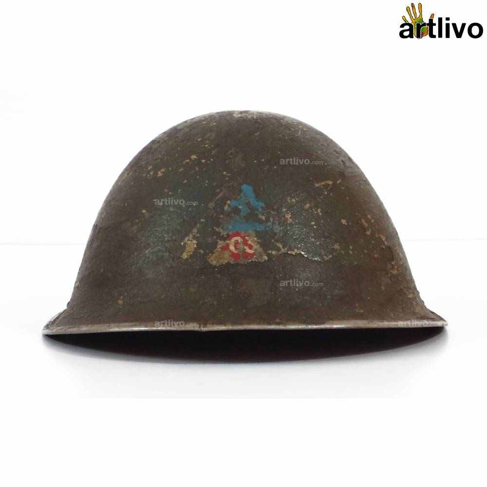 VINTAGE World War II Metal Helmet