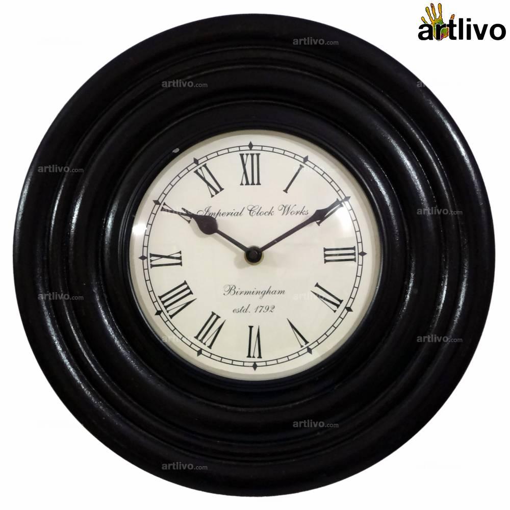 "UBER ELEGANT Rapid Round Wall Clock 12"""