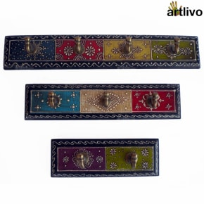 EMBOSSED Set of Three Hook Strips - Long