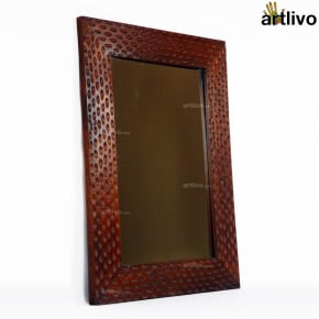 MERLOT Dimple Wooden Mirror Frame