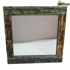 ECOLOG Reclaimed Wood Square Mirror Frame
