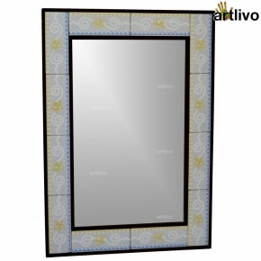 "32"" Decorative Wall Hanging Tile Mirror Frame - MR057"