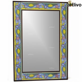 "32"" Decorative Wall Hanging Tile Mirror Frame - MR061"