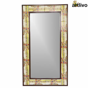 "40"" Decorative Kids Room Hanging Tile Mirror Frame"