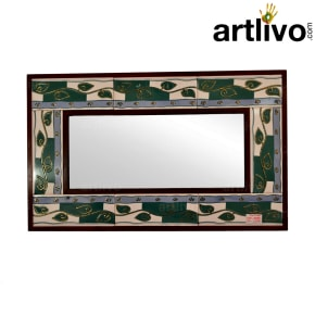 Green Small Tile Mirror