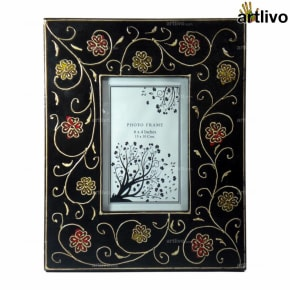 EMBOSSED Black Vine Photo Frame