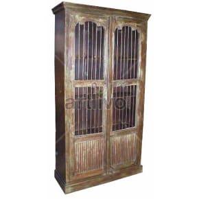 Vintage Indian Beautiful magnificent Solid Wooden Teak Almirah
