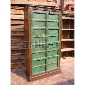 Vintage Indian Beautiful Marvellous Solid Wooden Teak Almirah