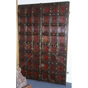 Vintage Indian Chiselled Deluxe Solid Wooden Teak Door