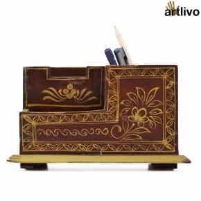 Handpainted Compact Table Organiser