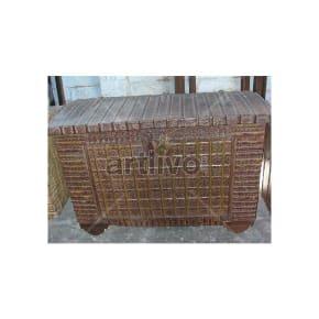 Vintage Indian Beautiful imperial Solid Wood Rustic metal design Trunk