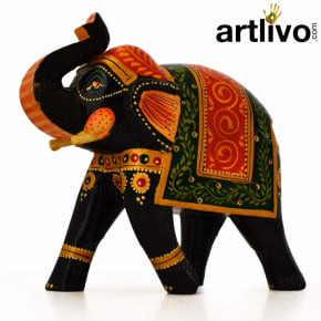 Wooden Elephant Statue - ST091