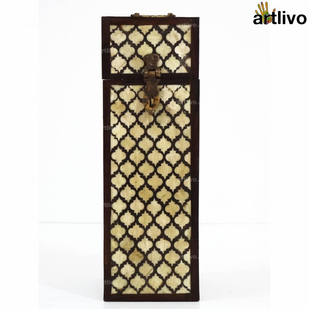 Persian Inlay Ivory Wine Box