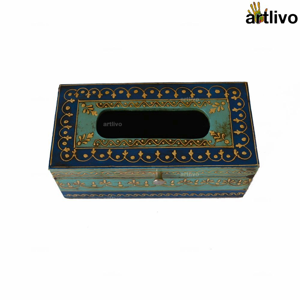 EMBOSSED Sapphire Tissue Paper Box