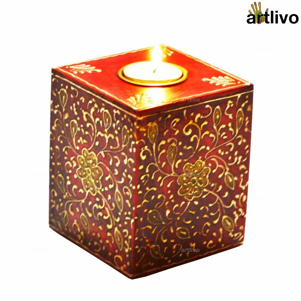 BOLD RED Cube Candle