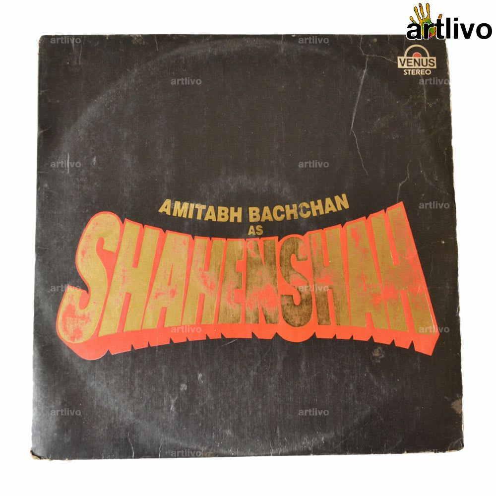 VINTAGE Gramophone Record - Shahenshah (With Cover)