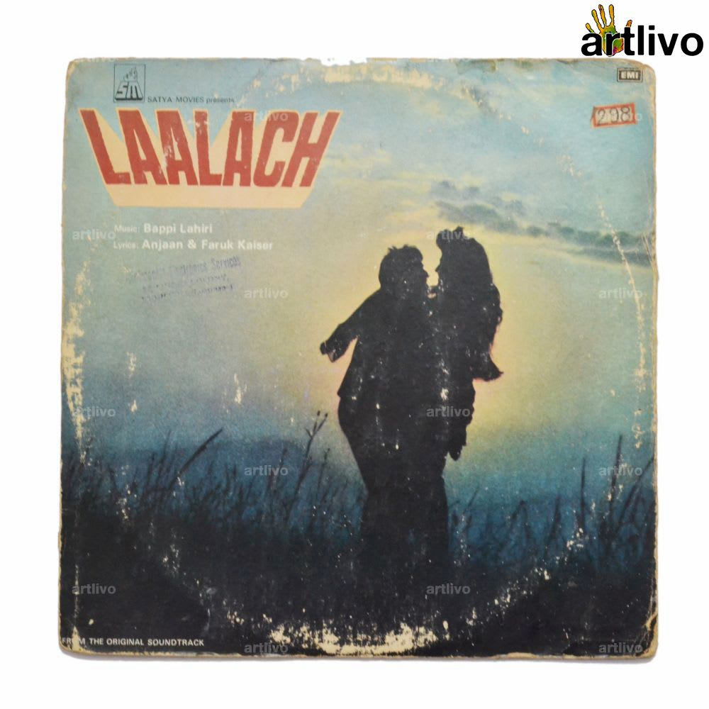 VINTAGE Gramophone Record - Laalach (With Cover)