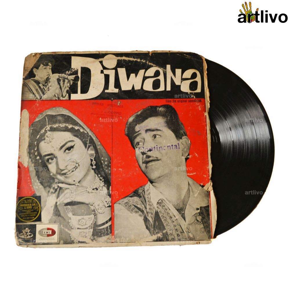 VINTAGE Gramophone Record - Diwana (With Cover)