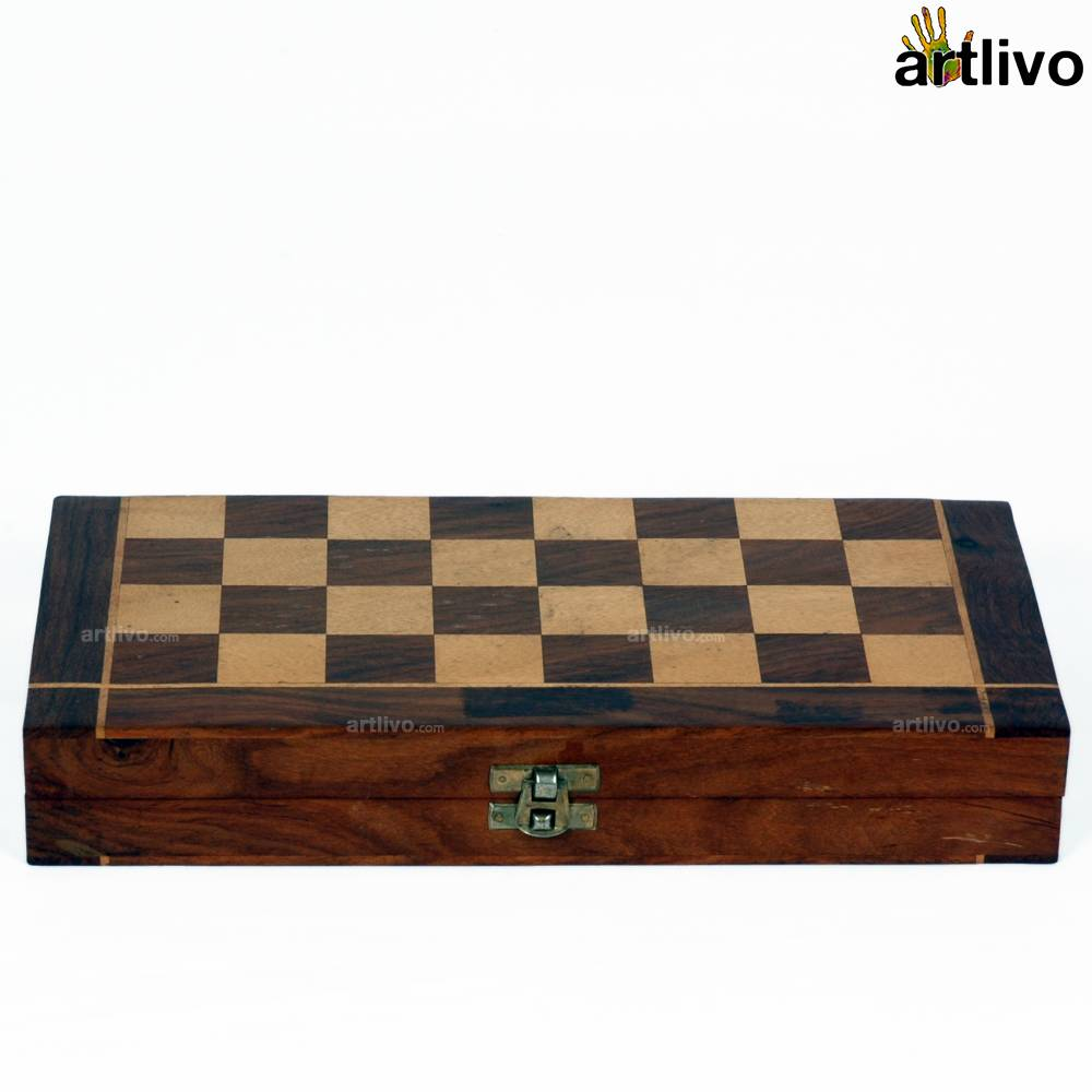 Intricate Wooden Chess Box