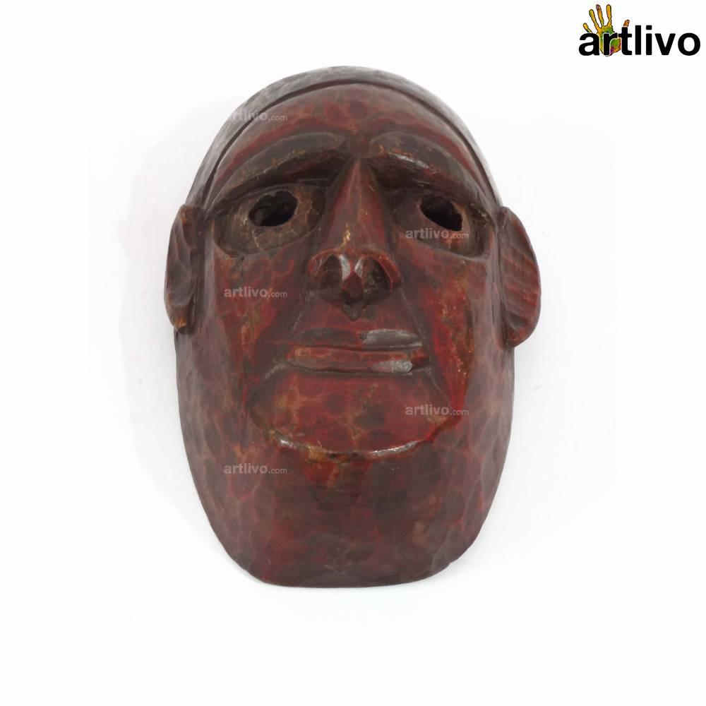 VINTAGE Tribal Story Mask - Hero - MA033